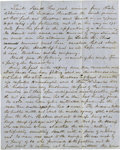 """Military & Patriotic:Indian Wars, [George Pickett] Tremendous Indian Content Autograph Letter Signed, """"Hach Brown"""", c. 1852...."""