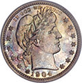 Proof Barber Quarters, 1904 25C PR66 PCGS....