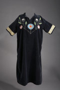 American Indian Art:Beadwork and Quillwork, A PLATEAU WOMAN'S BEADED CLOTH DRESS. c. 1920...