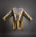 American Indian Art:Beadwork and Quillwork, A SIOUX BEADED HIDE WAR SHIRT. c. 1895...
