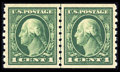 Stamps, #412, 1912, 1c Green, XF-S 95 PSE. (Original Gum - Never Hinged)....