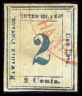 Stamps, #13, 1859, 2c Light Blue On Bluish White Paper. (Used)....