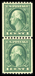 Stamps, #448, 1915, 1c Green, SUP 98 PSE. (Original Gum - Never Hinged)....