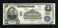 National Bank Notes:Pennsylvania, Newtown, PA - $5 1902 Plain Back Fr. 598 The First NB & TC Ch.# 324. ...