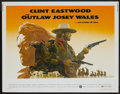 """Movie Posters:Western, The Outlaw Josey Wales (Warner Brothers, 1976). Half Sheet (22"""" X 28""""). Western...."""