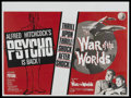 "Movie Posters:Hitchcock, Psycho/War of the Worlds Combo (Paramount, R-1965). British Quad(30"" X 40""). Hitchcock...."