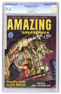 Golden Age (1938-1955):Science Fiction, Amazing Adventures #3 (Ziff-Davis, 1951) CGC VF/NM 9.0 Cream tooff-white pages....