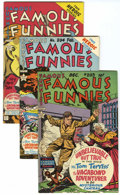 Golden Age (1938-1955):Miscellaneous, Famous Funnies #203-207 File Copies Group (Eastern Color, 1952-53) Condition: Average VF+.... (Total: 5 Comic Books)