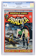 Bronze Age (1970-1979):Horror, Tomb of Dracula #1 (Marvel, 1972) CGC VF+ 8.5 Off-white pages....