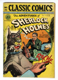 Golden Age (1938-1955):Classics Illustrated, Classic Comics #33 The Adventures of Sherlock Holmes - First Edition (Gilberton, 1947) Condition: Apparent VG....