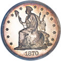 Patterns, 1870 $1 Dollar, Judd-1014, Pollock-1148, Low R.7, PR63 NGC....