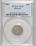 Coins of Hawaii: , 1883 10C Hawaii Ten Cents XF40 PCGS. PCGS Population (44/309). NGCCensus: (22/219). Mintage: 250,000. (#10979)...