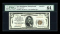 National Bank Notes:Pennsylvania, New Kensington, PA - $5 1929 Ty. 1 The Logan NB & TC Ch. #13571. ...