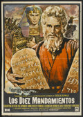"Movie Posters:Historical Drama, The Ten Commandments (Paramount, R-1974). Spanish One Sheet (27.5""X 39""). Historical Drama...."