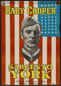 "Movie Posters:War, Sergeant York (Warner Brothers, R-1950s). Spanish One Sheet (26.75""X 38""). War...."