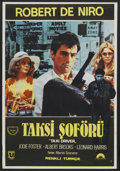"""Movie Posters:Crime, Taxi Driver (Columbia, 1976). Turkish One Sheet (26.75"""" X 39"""").Crime...."""