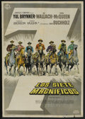 "Movie Posters:Western, The Magnificent Seven (United Artists, 1960). Spanish Poster (27.5"" X 40""). Western...."