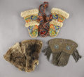 American Indian Art:Beadwork and Quillwork, A PAIR OF PLATEAU BEADED HIDE GAUNTLETS . c. 1920... (Total: 6Items)