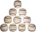 Autographs:Baseballs, 1940's- 1960's Stars Single Signed Baseball Lot Of 10....