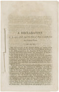 Books:First Editions, [Texas Secession Convention.] A Declaration of the Causes WhichImpel the State of Texas to Secede from the Federal Unio...