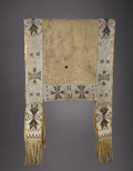 American Indian Art:Beadwork and Quillwork, A SIOUX BEADED BUFFALO HIDE SADDLE THROW. c. 1885...