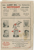 Autographs:Others, 1955 New York Yankees Signed Program....