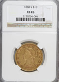 Liberty Eagles: , 1868-S $10 XF45 NGC. NGC Census: (20/56). PCGS Population (8/25).Mintage: 13,500. Numismedia Wsl. Price for NGC/PCGS coin ...