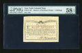 Colonial Notes:New York, New York March 5, 1776 (Water Works) 8s PMG Choice About Unc 58EPQ....