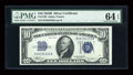 Small Size:Silver Certificates, Fr. 1703 $10 1934B Silver Certificate. PMG Choice Uncirculated 64 EPQ.. ...