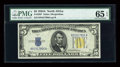 Small Size:World War II Emergency Notes, Fr. 2307 $5 1934A North Africa Silver Certificate. PMG Gem Uncirculated 65 EPQ.. ...