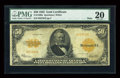 Large Size:Gold Certificates, Fr. 1200a $50 1922 Gold Certificate PMG Very Fine 20....