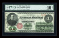 Large Size:Legal Tender Notes, Fr. 16 $1 1862 Legal Tender PMG Extremely Fine 40 Net....
