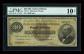 Large Size:Gold Certificates, Fr. 1177 $20 1882 Gold Certificate PMG Very Good 10 Net....