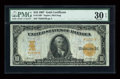 Large Size:Gold Certificates, Fr. 1169 $10 1907 Gold Certificate Star Note PMG Very Fine 30 EPQ....