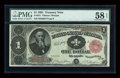 Fr. 351 $1 1891 Treasury Note PMG Choice About Unc 58 EPQ