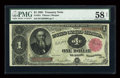Fr. 351 $1 1891 Treasury Note PMG Choice About Unc 58 Net