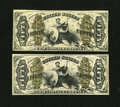 Fractional Currency:Third Issue, Fr. 1349 50¢ Third Issue Justice Very Fine.. Fr. 1350 50¢ Third Issue Justice Fine.... (Total: 2 notes)