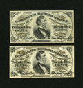 Fractional Currency:Third Issue, Fr. 1294 25¢ Third Issue About New.. Fr. 1295 25¢ Third Issue New.... (Total: 2 notes)
