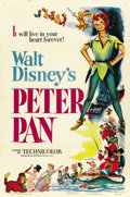 "Movie Posters:Animated, Peter Pan (RKO, 1953). One Sheet (27"" X 41""). ..."