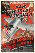 "Movie Posters:Serial, Flash Gordon's Trip to Mars (Universal, 1938). One Sheet (27"" X41""). ..."