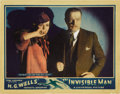 "Movie Posters:Horror, The Invisible Man (Universal, 1933). Lobby Card (11"" X 14""). ..."