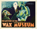 "Movie Posters:Horror, The Mystery of the Wax Museum (Warner Brothers, 1933). Title LobbyCard (11"" X 14""). ..."