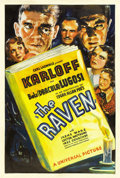 "Movie Posters:Horror, The Raven (Universal, 1935). One Sheet (27"" X 41"")...."
