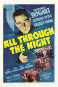 "Movie Posters:Action, All Through the Night (Warner Brothers, 1942). One Sheet (27"" X41""). ..."