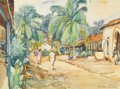 Texas:Early Texas Art - Regionalists, JOHN ORTH (1889-1976). Acapulco Mexico. Watercolor. 171/2in. x 23in.. Signed and titled lower left. This watercolor o...