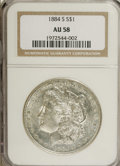 Morgan Dollars: , 1884-S $1 AU58 NGC. Fully struck and brilliant throughout. Rarelyavailable in Uncirculated, ...