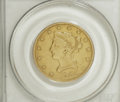 Liberty Eagles: , 1855-O $10 VF25 PCGS. This rare date New Orleans eagle hassurprising shield and wing definition for the VF25 grade. The gl...