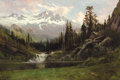 Paintings, WILLIAM KEITH (American, 1839-1911). View of Mount Shasta, 1891. Oil on canvas. 23 x 32 inches (58.4 x 81.3 cm). Signed ...
