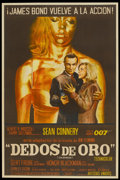 "Movie Posters:James Bond, Goldfinger (United Artists, 1964). Argentinean Poster (28.25"" X42.5""). James Bond...."