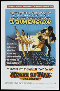 "House of Wax (Warner Brothers, 1953). One Sheet (27"" X 41"") 3-D Style. Horror"